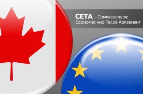 Semana de movilización contra el acuerdo económico entre la Unión Europea y Canadá