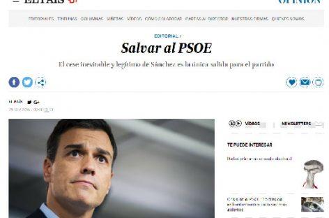 El País y su editorial contra Pedro Sanchez