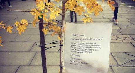 Un mensaje conmovedor de una niña en Oxford Street