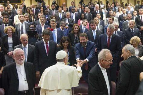 Alcaldes de las principales ciudades europeas se encontrarán con el Papa Francisco