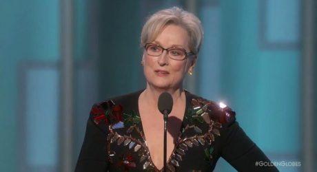 Meryl Streep critico al presidente electo Donald Trump