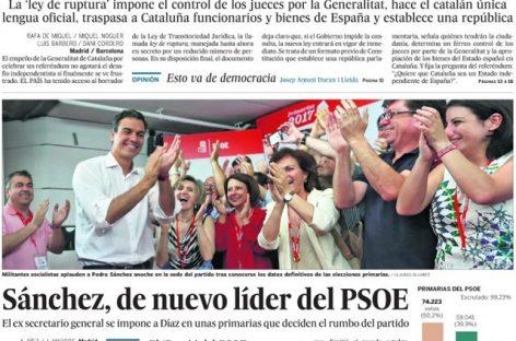 """La reacción en las redes a la opinión del diario """"El País"""""""