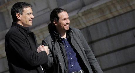Sánchez del PSOE e Iglesias de Unidos Podemos, empiezan a explorar una alianza anti-Rajoy