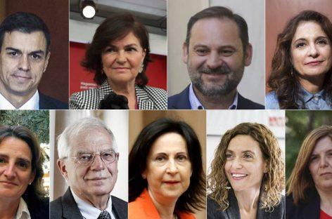 El Gabinete del Gobierno de Pedro Sánchez