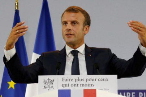 Macron presenta un plan para eliminar la pobreza