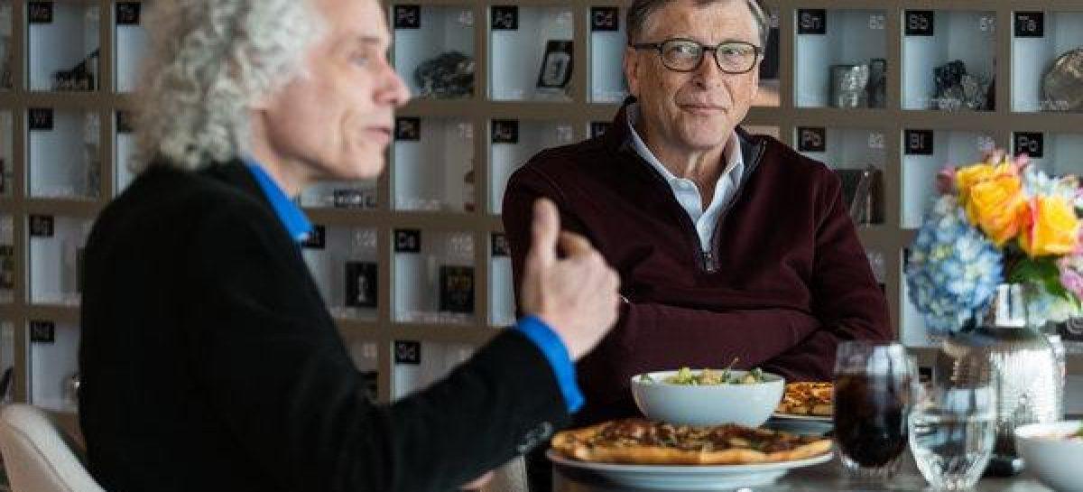 Lo mejor de la humanidad, según Bill Gates y Steven Pinker