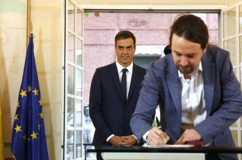 En España, el pacto del Gobierno y Podemos marcan el nuevo eje del poder de centro izquierda