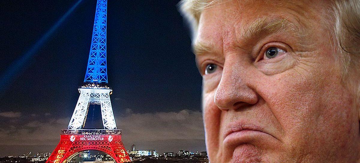 Trump criticado en París