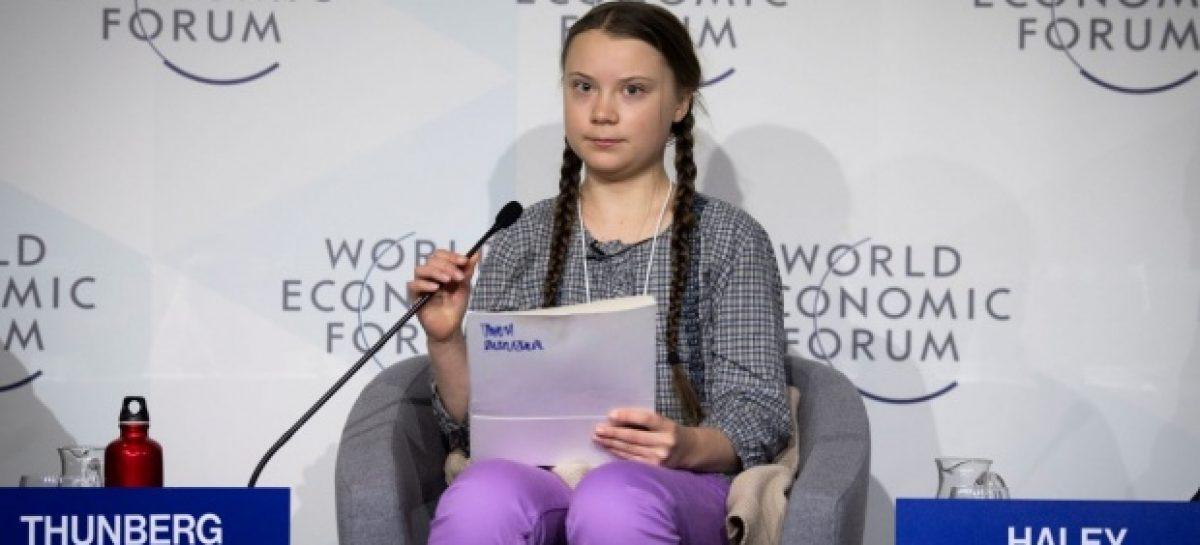 Greta Thunberg, la verdadera estrella de la edición 2019 del Foro de Davos