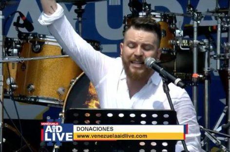 Daniel Habif, emocionó a los cientos de miles de personas que asistieron al concierto solidario por Venezuela