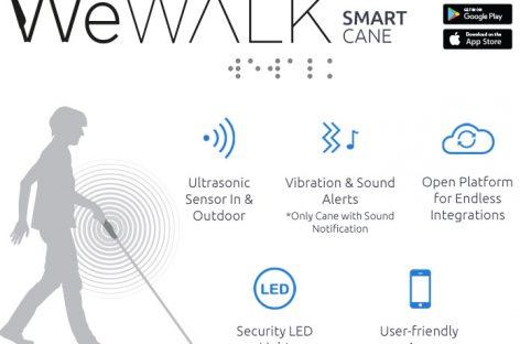 WeWalk, el bastón inteligente para asistir a las personas invidentes