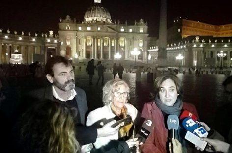Reunión de las alcaldesas de Madrid y Barcelona con el papa Francisco