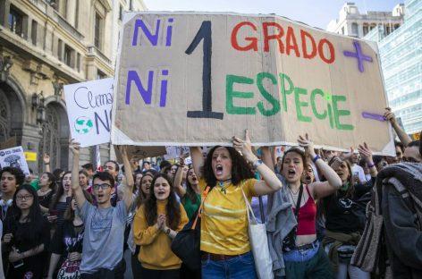 """""""No hay un planeta B"""", el grito de los jóvenes contra el cambio climático se convierte en global"""