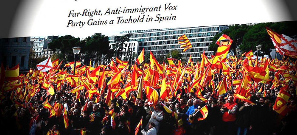 La prensa internacional expresa su temor a la extrema derecha en España