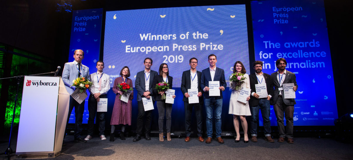 Premios europeos a la prensa 2019