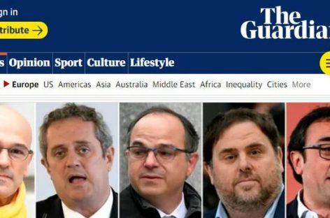 """The Guardian considera que la sentencia del Supremo español ha convertido en """"presos políticos a los líderes nacionalistas"""