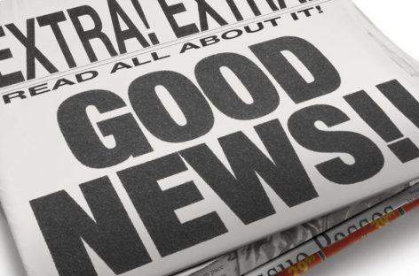 Buenas noticias, una ola positiva llega a los medios de comunicación